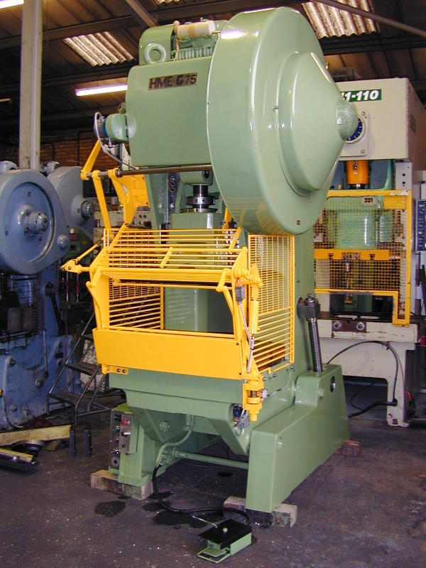 The photograph shows an example of a previously supply HME GH75 power press