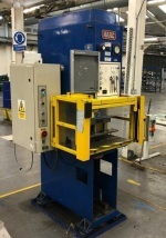 Hare model 12HP - 12 ton Open Fronted Hydraulic Press with Sick light guards & Mitsubishi plc control